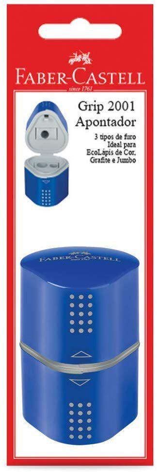 Apontador Com Deposito Faber-Castell Grip Mix Papo SM/MIXGRIPAPO 18211