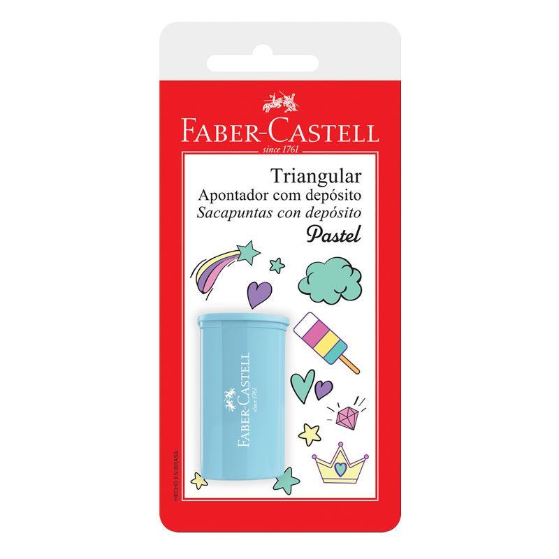 Apontador Com Deposito Faber-Castell Triangular Tons Pastel SM/125TZF 27643