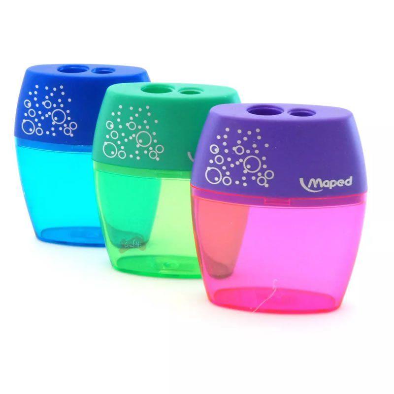 Apontador de Plástico Maped Jumbo Shaker Cores Sortidas 09704