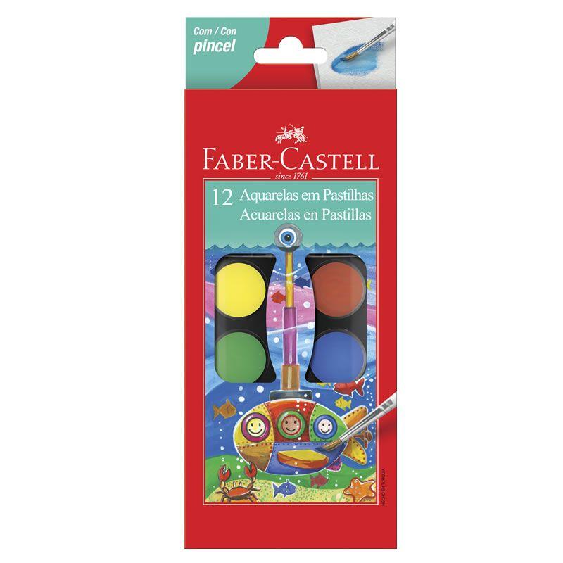 Aquarela Estojo Plástico 12 Cores 190012 Faber-Castell 03239