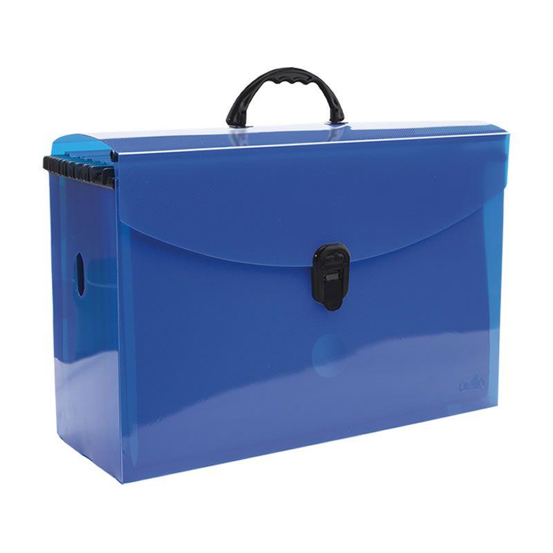 Pasta Arquivo Dello Plast Azul em PP Com 10 Pastas Suspensas 0317.C 07946