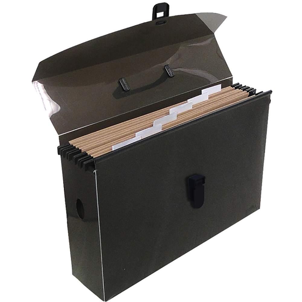 Pasta Arquivo Dello Slim Line Polipropileno Com 6 Pastas Fume Suspensa 2160.I 24681