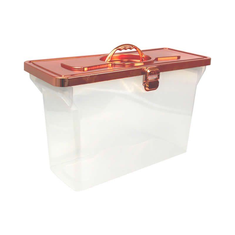 Arquivo Maleta Organizadora Empilhavel Metalizada Rose Gold 0331.Rg.0003 27143