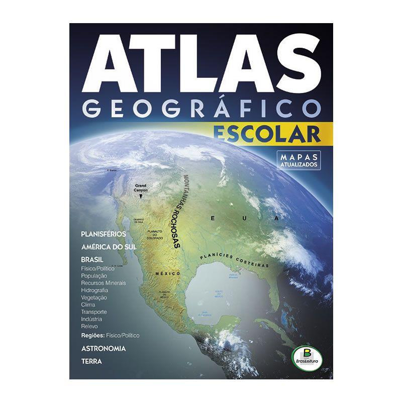 Atlas Escolar Geográfico Todo Livro 32 Pgs 16904