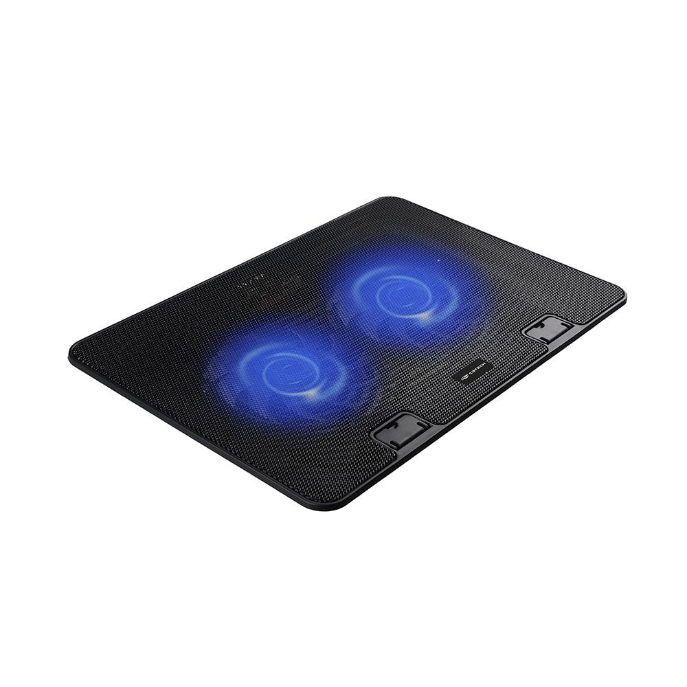"""Base Para Notebook C3 Tech Com 2 Coolers Preto LED Azul 15,6"""" NBC-50Bk 29644"""