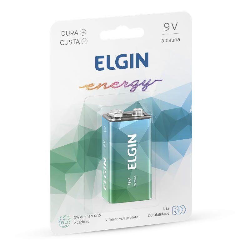 Bateria Elgin Alcalina 9V 82158 16022
