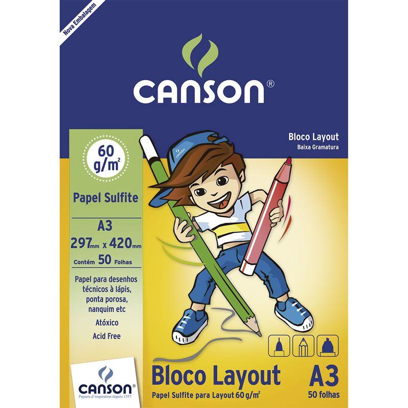 Bloco Canson de Layout A3 60gr 50 Fls 66667075 03382