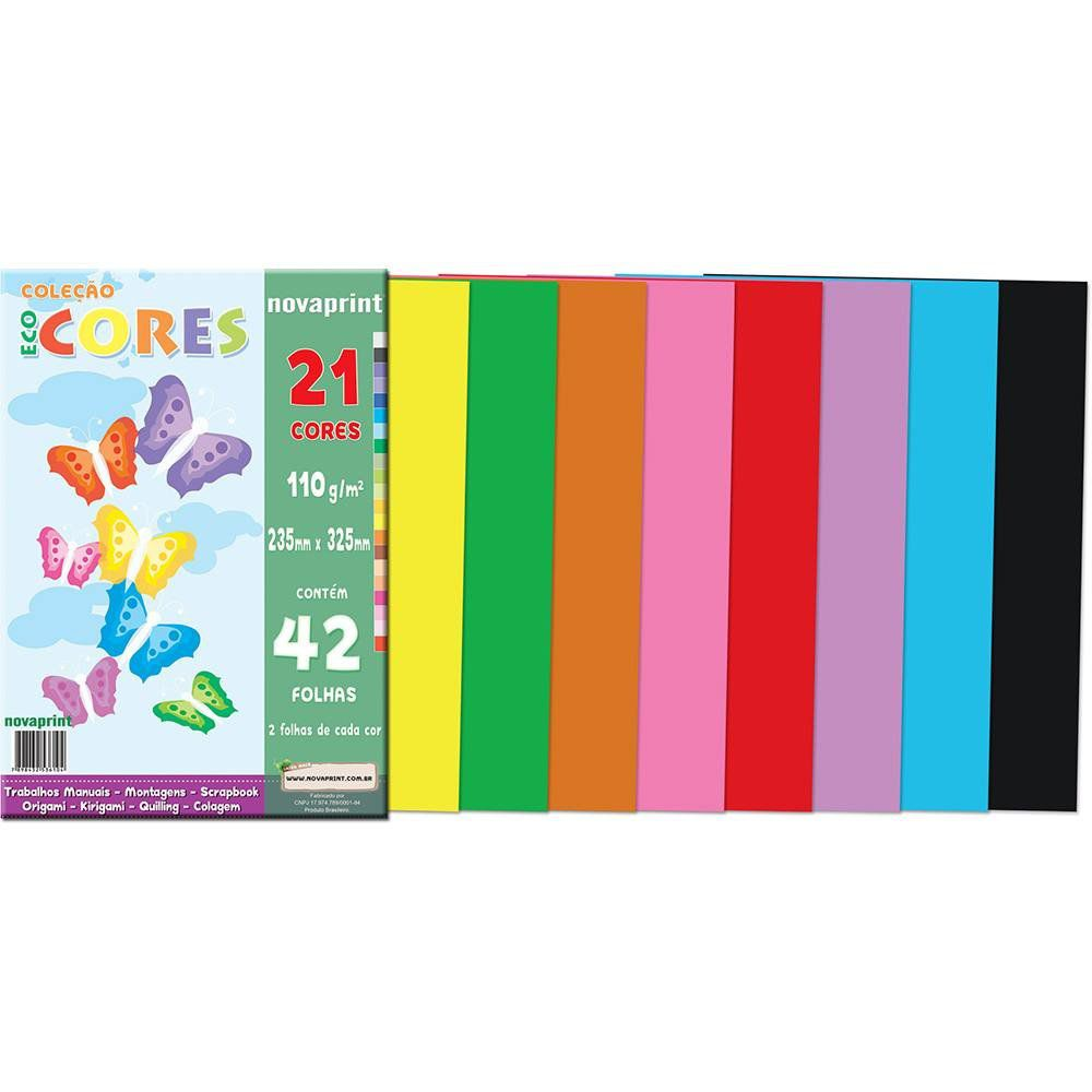 Bloco Criativo Ecocores A4 21 Cores 42 Fls Eccv0001 28901