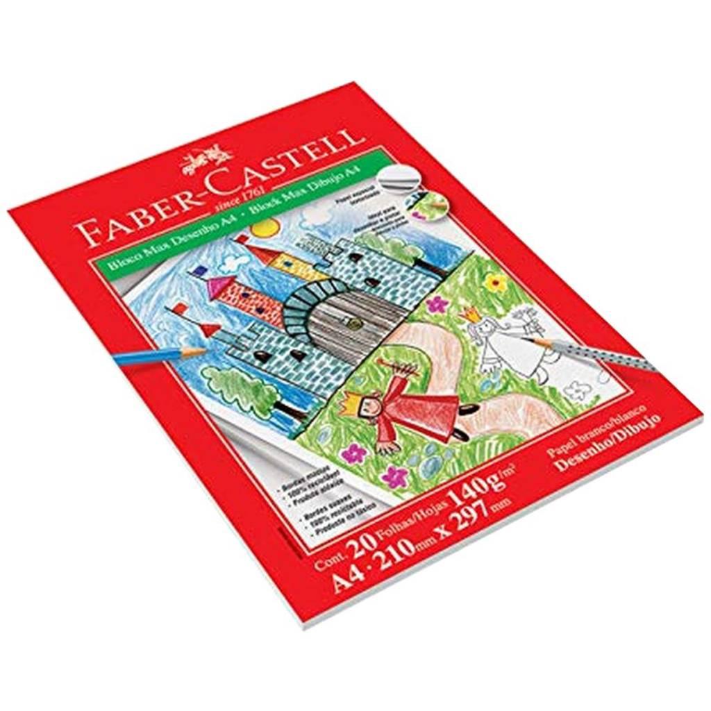 Bloco de Desenho Faber-Castell Max A4 20 Fls 140Gr Blcdes/A4 29948