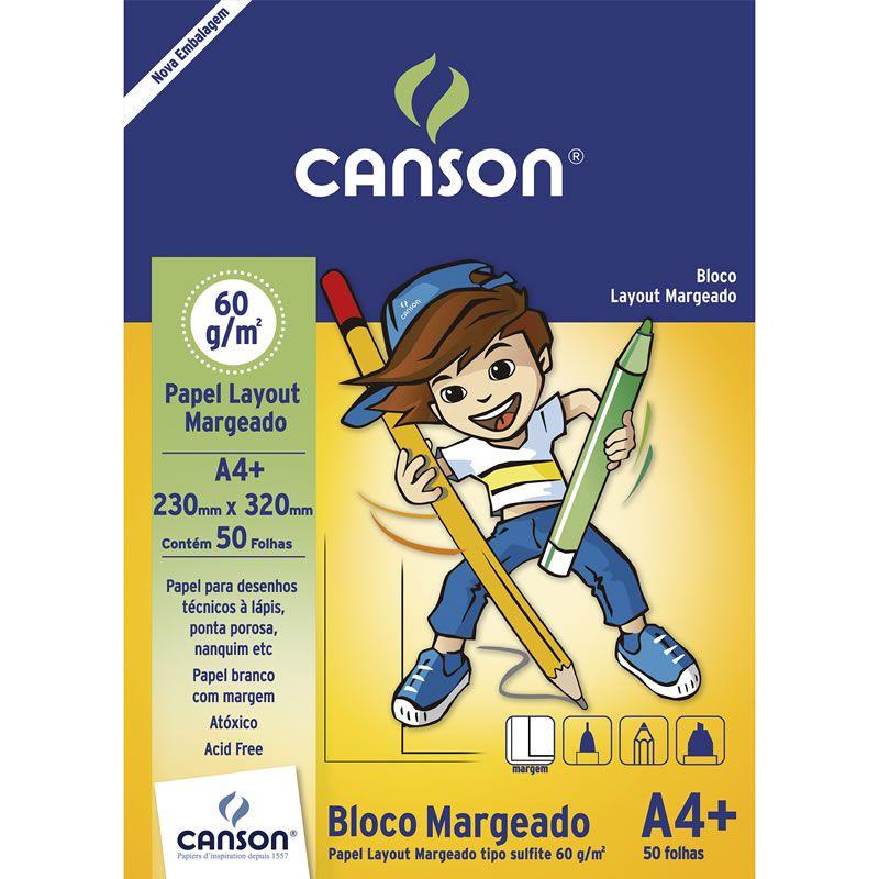 Bloco de Layout A4 50 Fls Margeado 66667076 Canson 14123