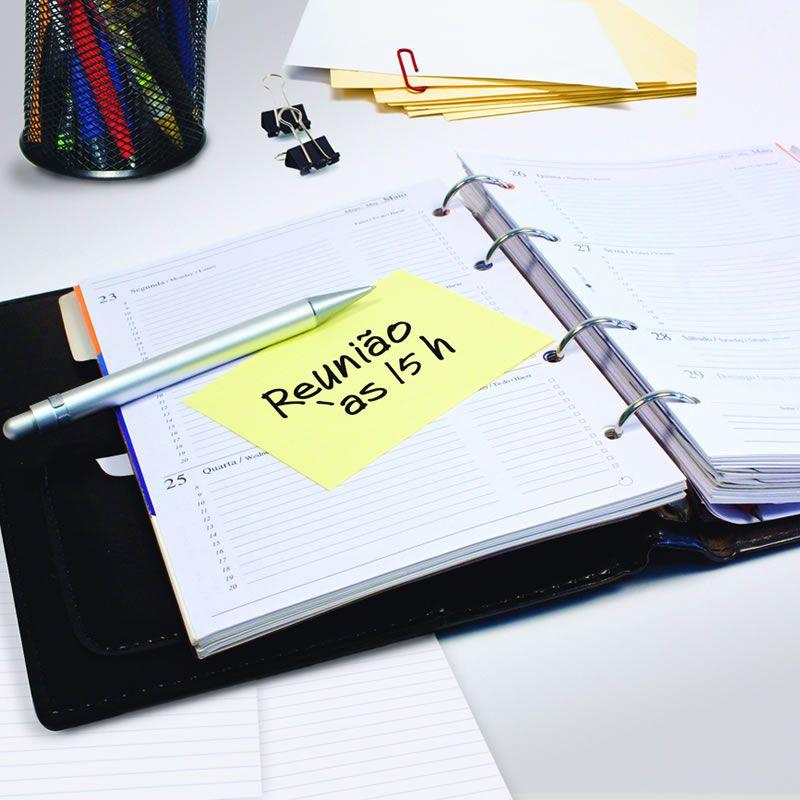Bloco de Notas Adesivas Post-it® Amarelo 76 mm x 102 mm - 100 folhas 01318