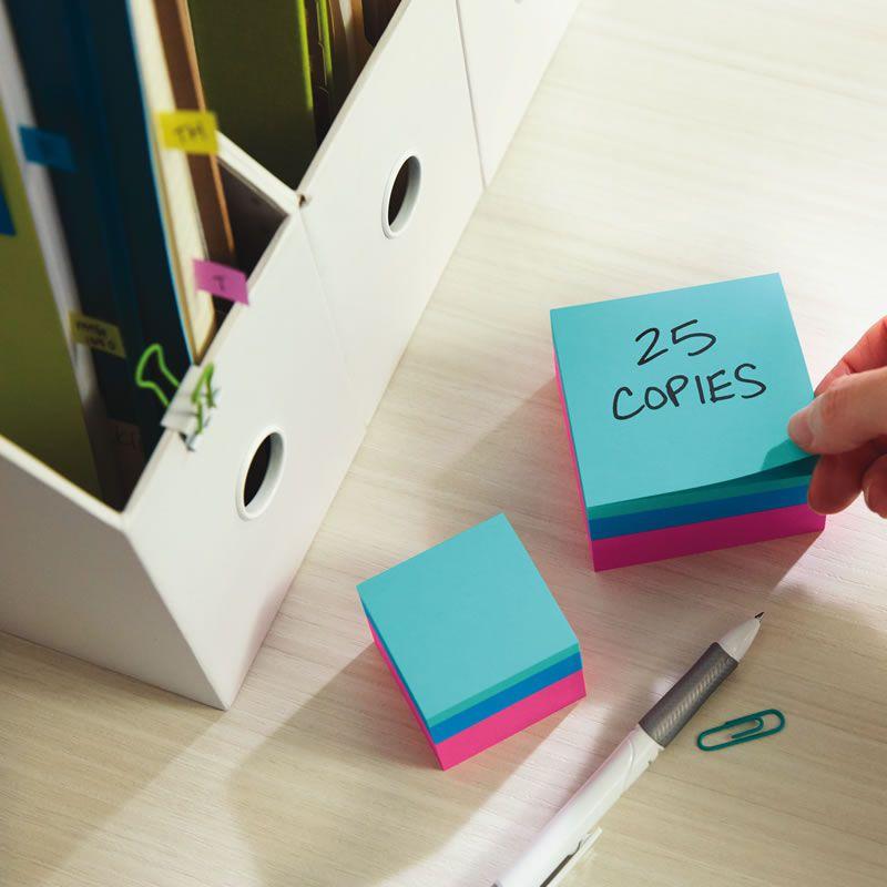 Bloco de Notas Adesivas Post-it® Cubo Verde 47,6 mm x 47,6 mm - 400 folhas 23205
