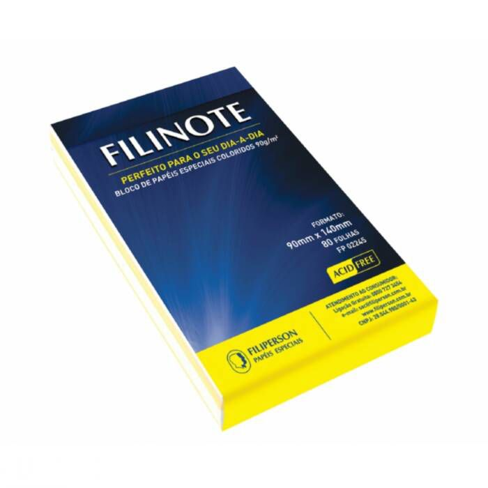 Bloco de Rascunho S/ Pauta Filinote 9X14Cm com 80 Folhas 02245/41 Filiperson 14592