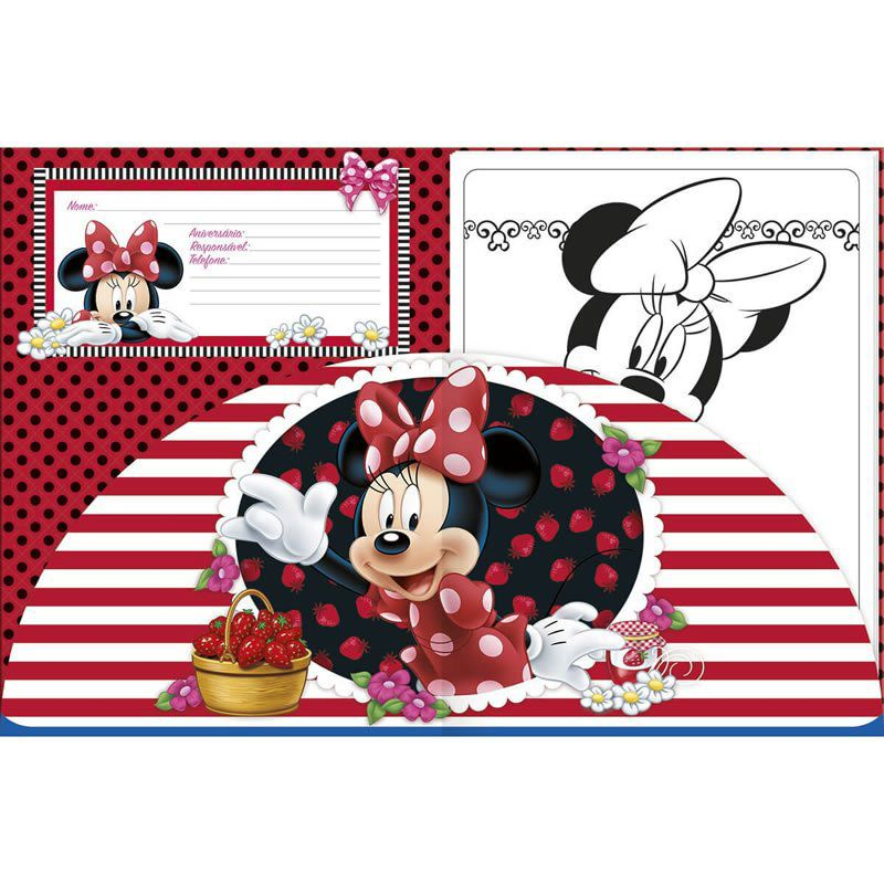 Bloco Para Colorir + Giz Tilibra Minnie 155187 26397