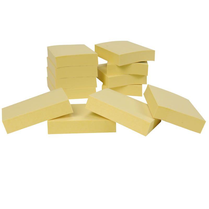 Blocos de Notas Adesivas Post-it® Amarelo - 24 blocos de 38 mm x 50 mm - 100 folhas cada 24662