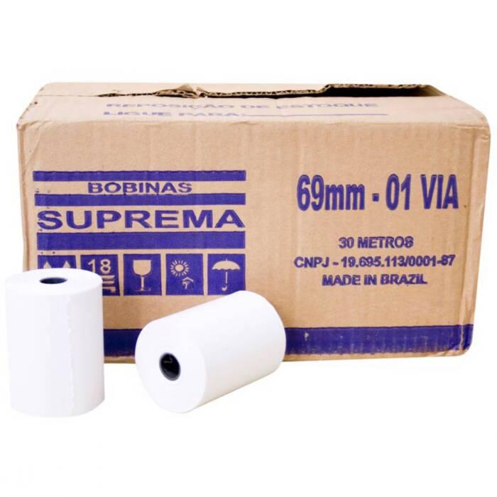 Bobina para Calculadora 69mm X 30m 1 Via 30 Un. Suprema 05154