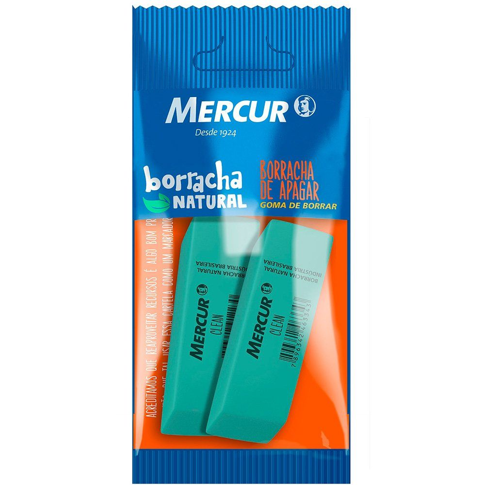 Borracha Clean Pull Pack 2 Uni. Mercur 06499