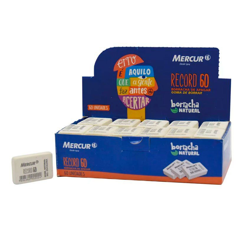 Borracha Mercur Record Caixa 60 Uni. 02651
