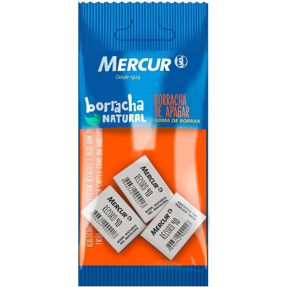 Borracha Record 40 Pull Pack 3 Un. Mercur 06603
