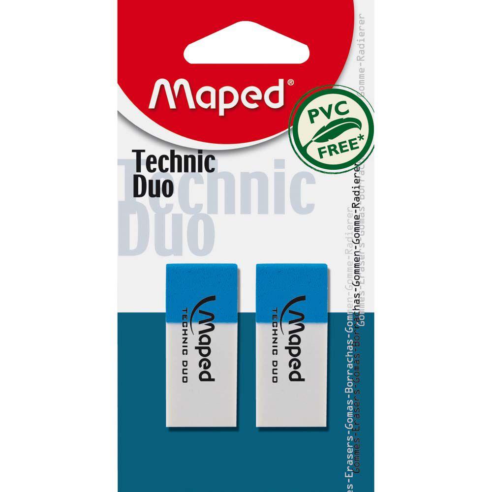 Borracha Technic Duo com 2 Un. 011712 Maped 21104