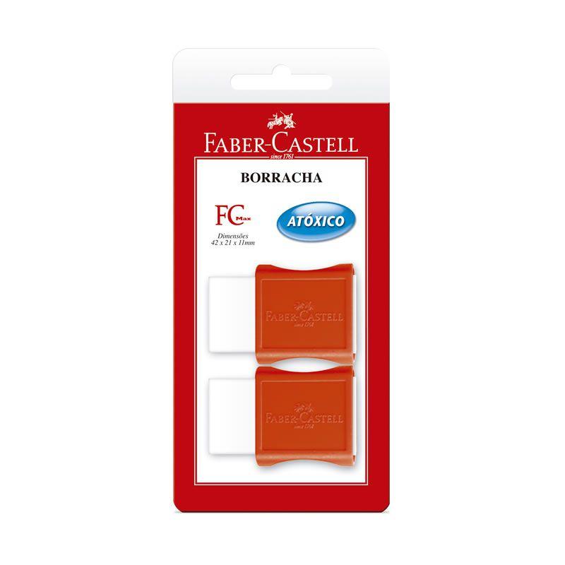 Borracha Tk Plast Pequena 2 Un. 107024 Faber-Castell 01836