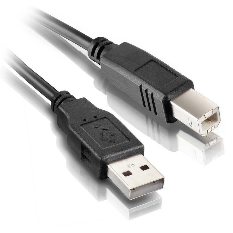 Cabo para Impressora USB 2.0 AM x BM 1,8m Preto Elgin 24485