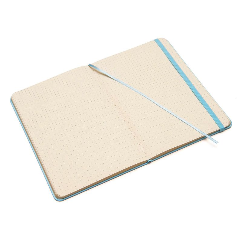 Caderneta Cicero Clássica Tons Pastel Azul Pontado 14X21 6726 27380
