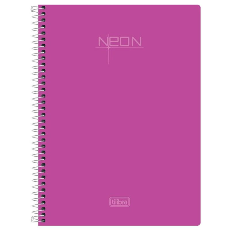 Caderno 1/4 (Tamanho Pequeno) Espiral Neon Rosa 96 Fls 147940 Tilibra 23463