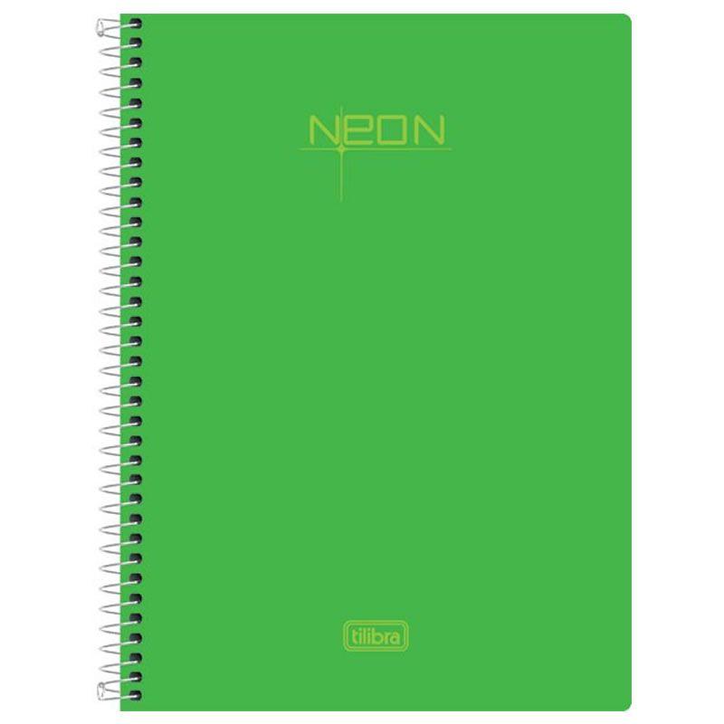 Caderno 1/4 (Tamanho Pequeno) Espiral Neon Verde 96 Fls 148717 Tilibra 23464