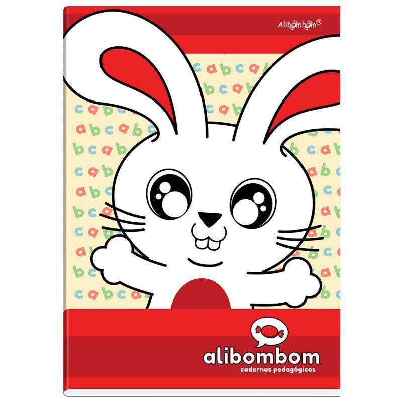 Caderno Alibombom Brochurão Costurado Capa Dura Numerado 1 2 3 X Vermelho 80 Fls 22086