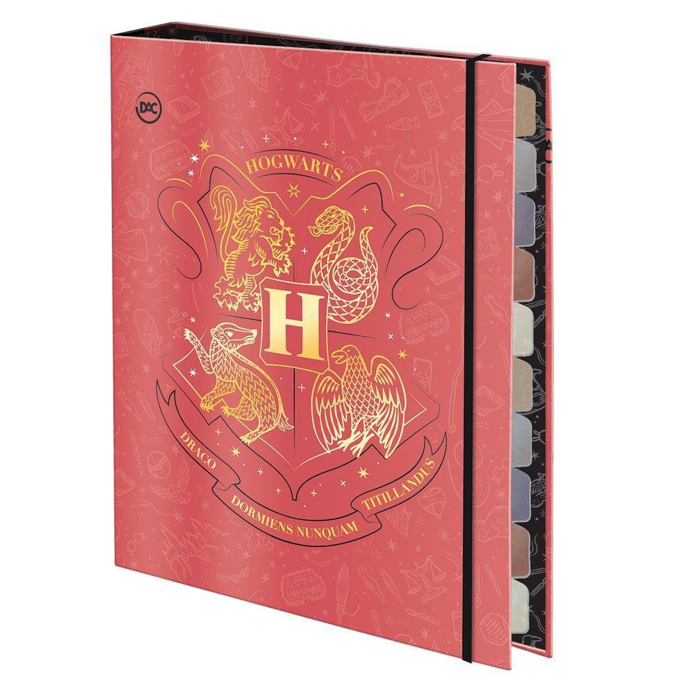 Caderno Argolado DAC Universitário Harry Potter Com Elastico 48 Fls 3114 29538