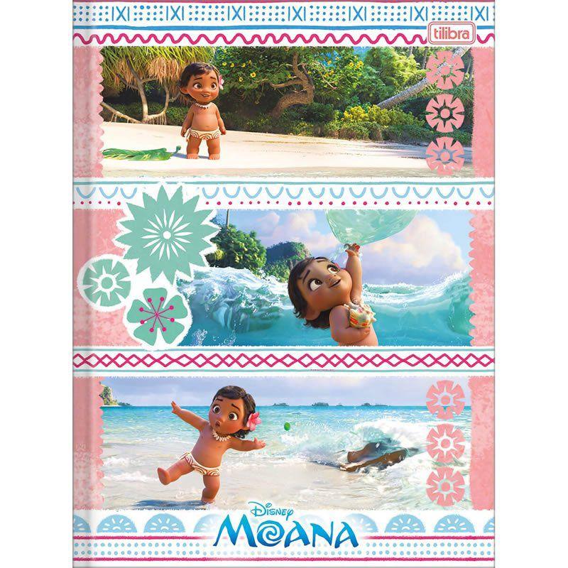 Caderno Brochura Capa Dura Costurada Universitário Moana 1X1 96 Fls 154156 Tilibra 23477