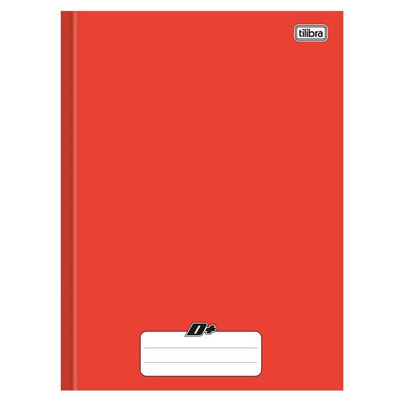 Caderno Brochura Capa Dura Universitário Vermelho 116777 24274