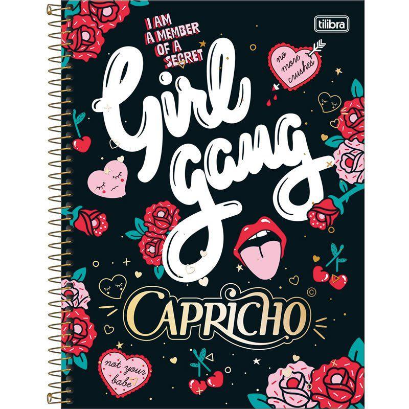 Caderno Capa Dura Universitário Capricho 10X1 200 Fls. 137707 Tilibra 05086