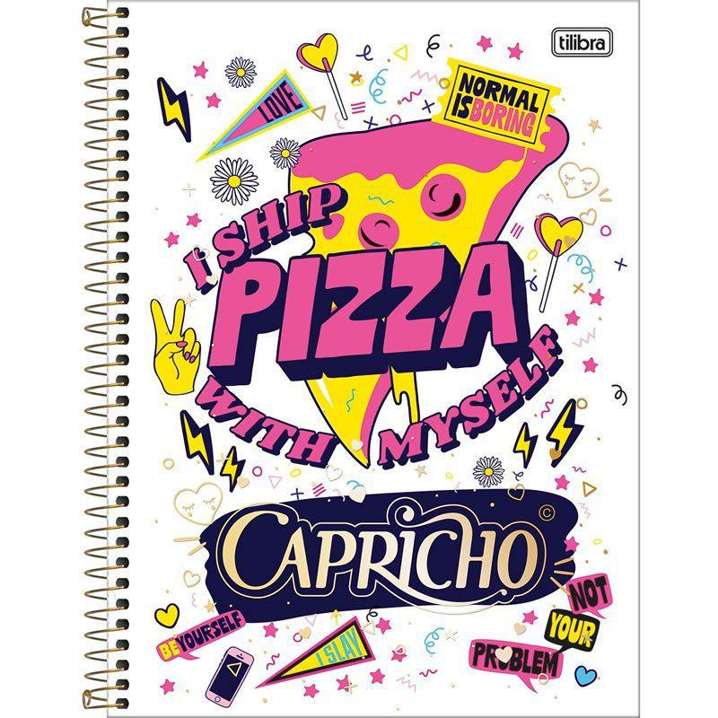 Caderno Capa Dura Universitário Capricho 1X1 96 Fls. 137693 Tilibra 05085