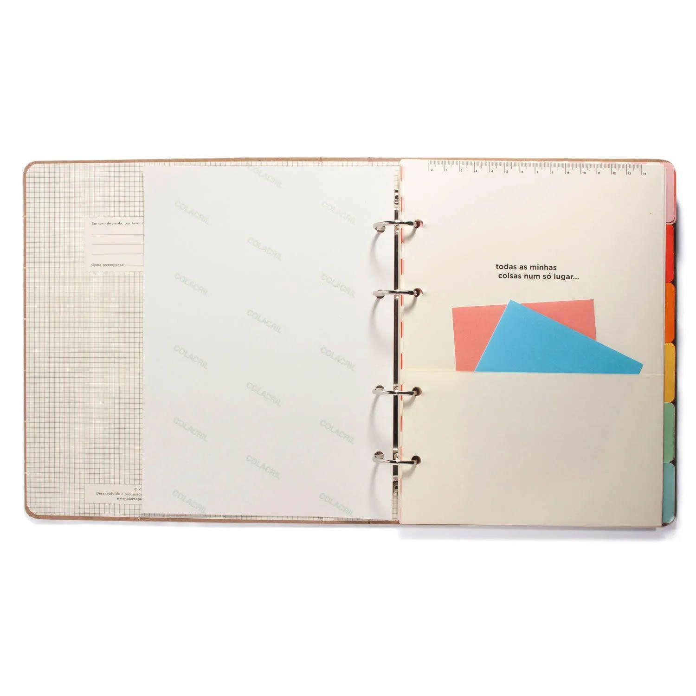 Caderno Criativo Argolado Cicero Colegial Polen Azul 8768 29027