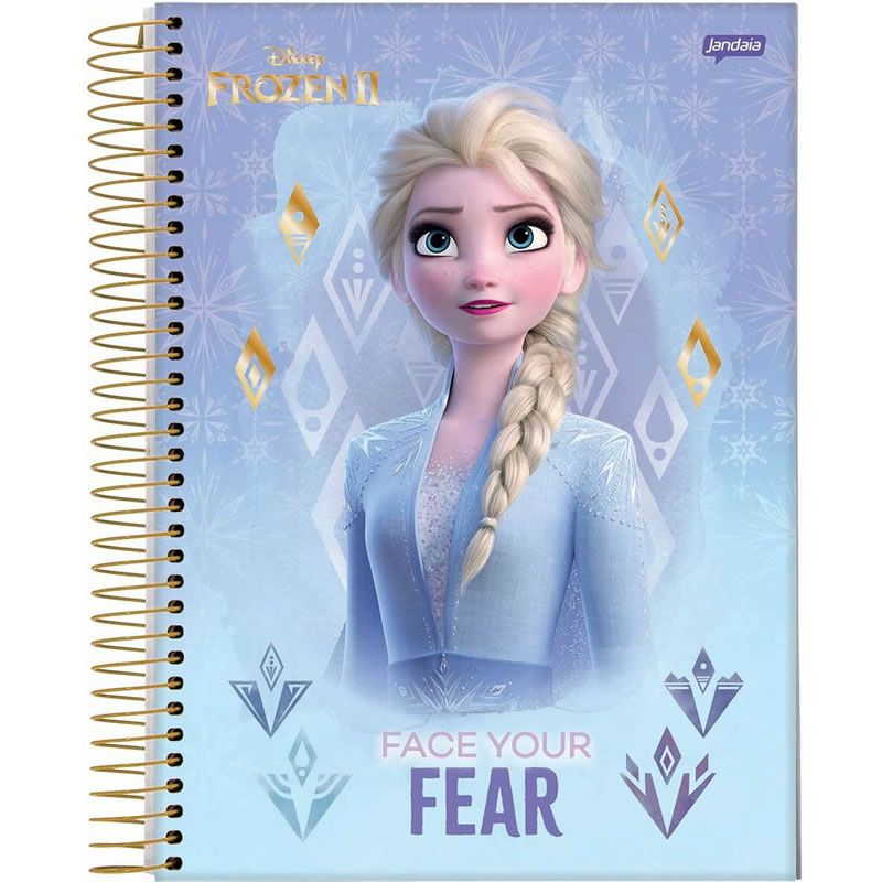Caderno Jandaia Espiral Frozen 1/4 Capa Dura 96 Fls 58587-20 28270