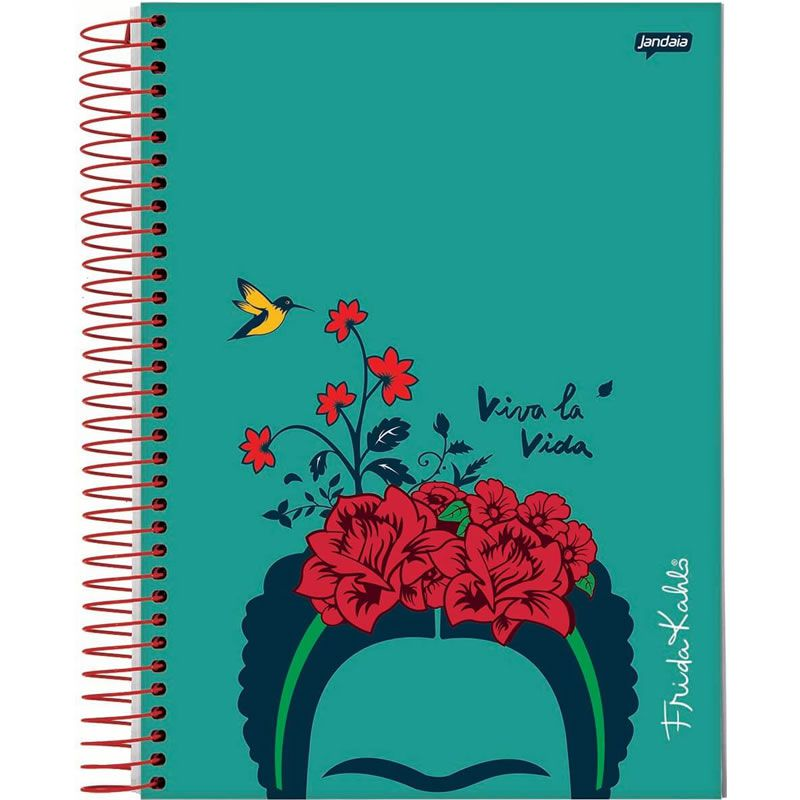 Caderno Jandaia Frida Kahlo Capa Dura Espiral 1X1 80 Fls 66972-20 28280