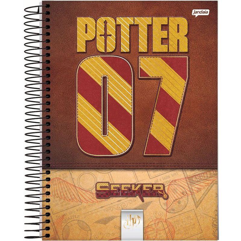 Caderno Jandaia Harry Potter Capa Dura Colegial 1X1 80 Fls 66974-20 28282