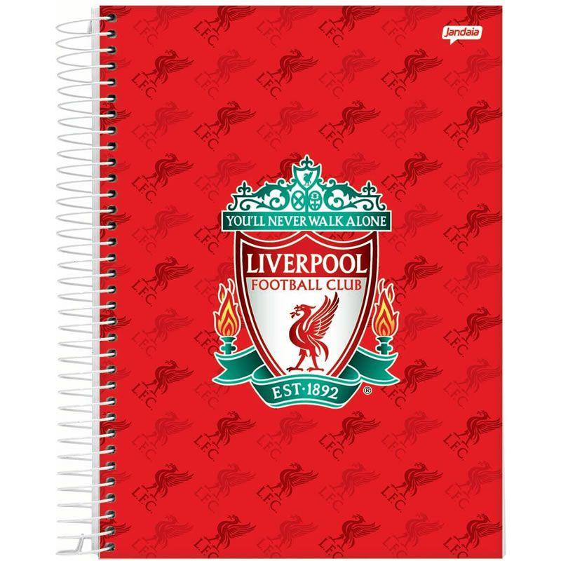 Caderno Jandaia Liverpool Capa Dura Universitário Espiral 1X1 96 Fls 66703-20 28276