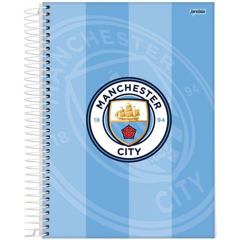 Caderno Jandaia Manchester City Capa Dura Universitário Espiral 1X1 96 Fls 66706-20 28278
