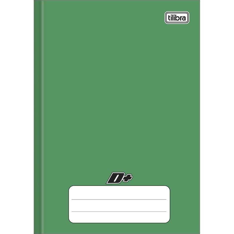 Caderno Mais Capa Dura Costurado Verde 1/4 (Tamanho Pequeno) 96 Fls 116718 Tilibra 16888