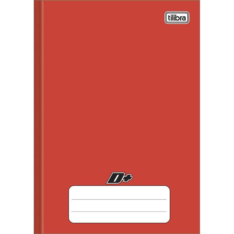 Caderno Mais Capa Dura Costurado Vermelho 1/4 (Tamanho Pequeno) 96 Fls 116734 Tilibra 16887