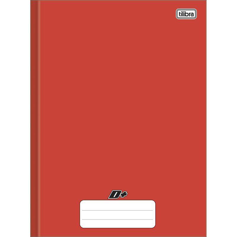 Caderno Mais Capa Dura Vermelho Brochura 96 Fls. 116815 Tilibra 14563
