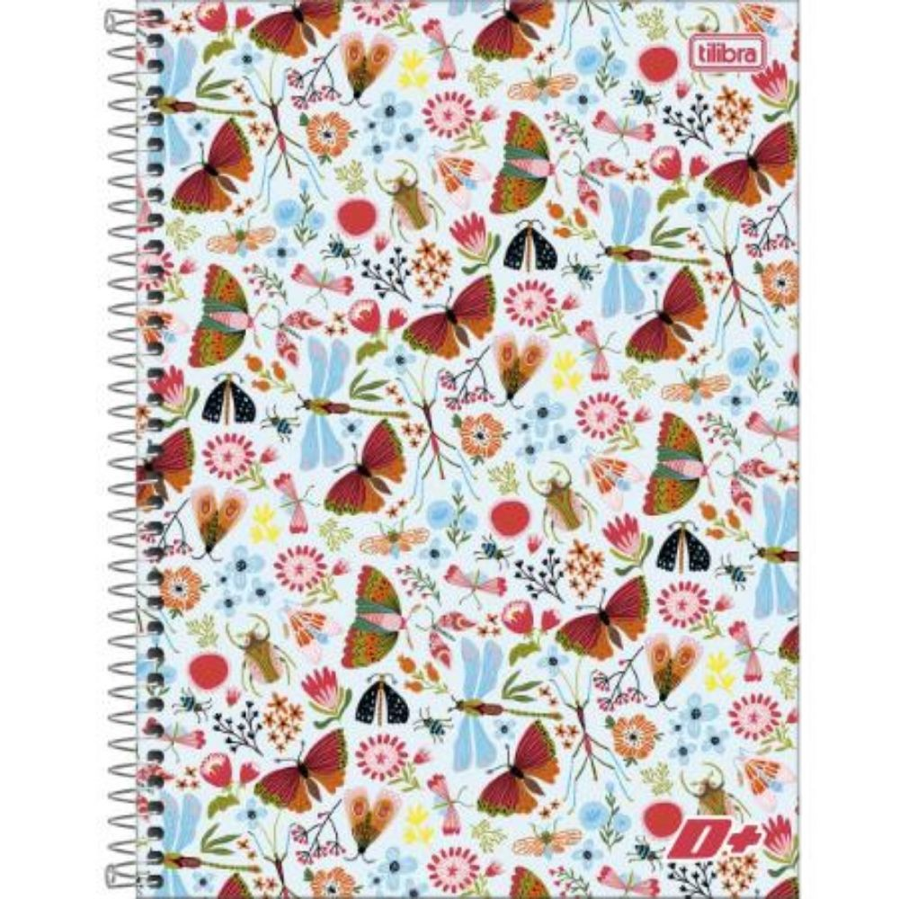 Caderno Espiral Universitário Capa Dura Feminino 200 Folhas 139289 Tilibra 17960