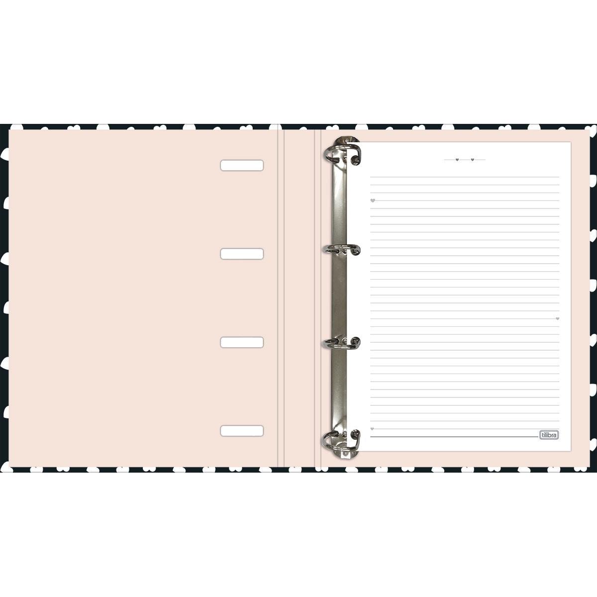 Caderno Tilibra Argolado Com Elastico West Village 80 Fls 230472 27830