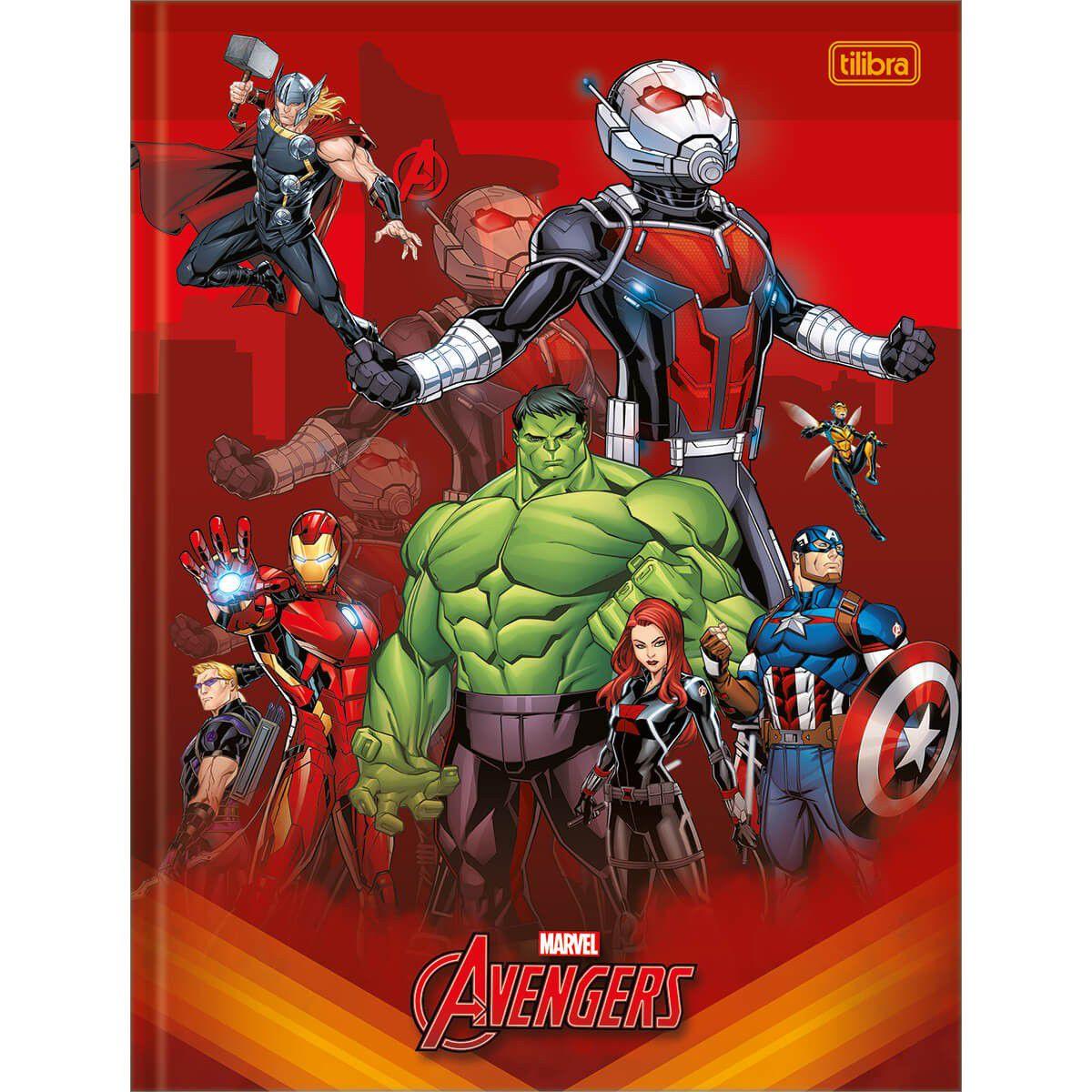 Caderno Tilibra Brochura Capa Dura Costurada Universitário Avengers 80 Fls 308986 27767
