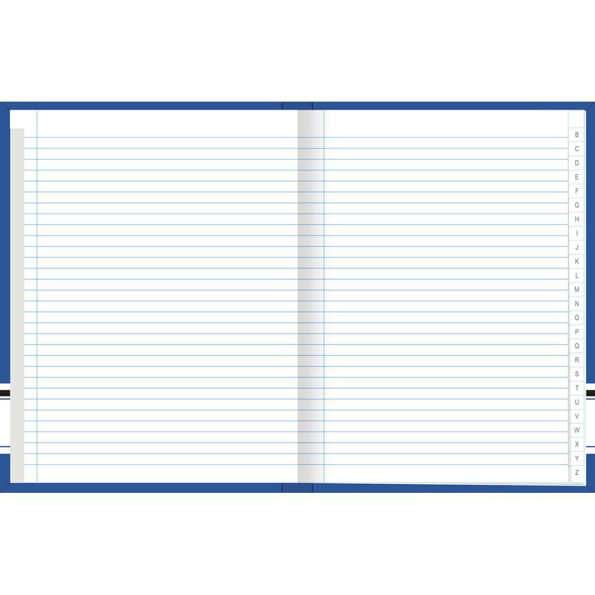 Caderno Tilibra Brochura Capa Dura Costurado Universitário Academie Azul Com Indice 96 Fls 153613 23470