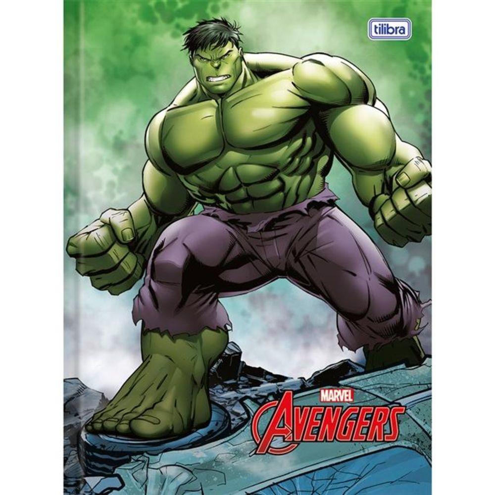 Caderno Tilibra Brochura Capa Dura Costurado Universitário Avengers 96 Fls 146625 18412