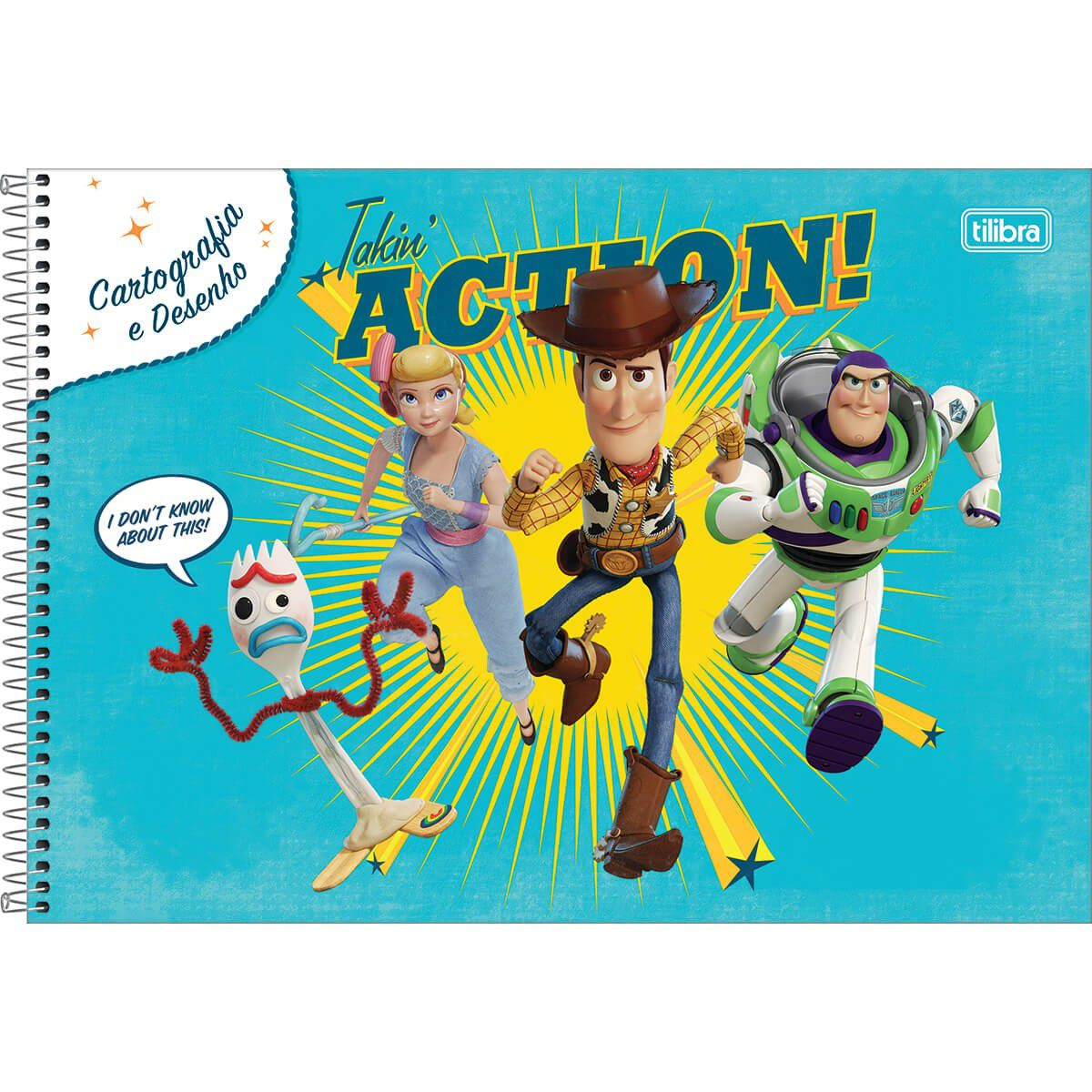 Caderno Tilibra Capa Dura Cartografia Espiral Toy Story 80 Fls 309109 27853